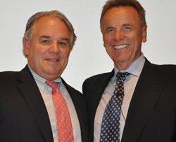 Drs. Jeffrey Keller, left, and Robert Spetzler