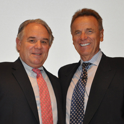 Drs. Jeffrey Keller, left, and Robert Spetzler