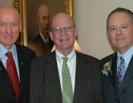 From left: John M. Tew, Jr., MD, John Hutton, MD, and Ronald Warnick, MD. Photo by Tonya Hines / Mayfield Clinic.
